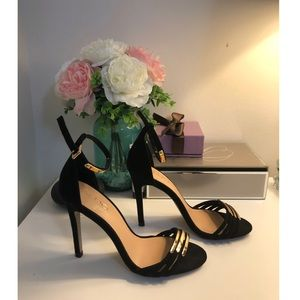 ALDO BLACK WITH GOLD SANDALS